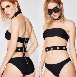 Jaded London Eyelet Choker Swimsuit